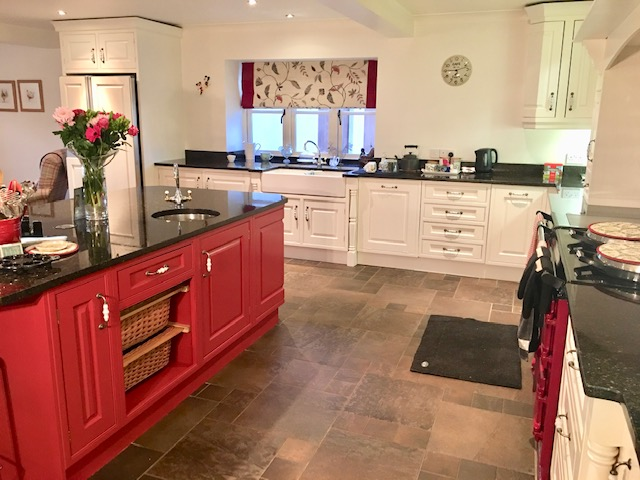 two tone kitchen, painted kitchen, cabinet painting