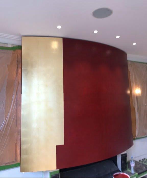 Gilding London, Gilder London, Specialist decorator London, metal leaf, Artisan painter London