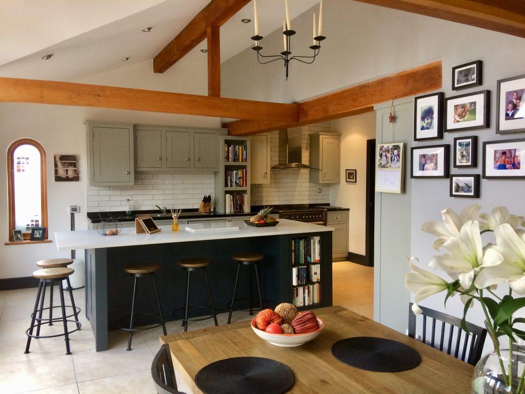 grey kitchen cabinetsoff black kitchen, kitchen makeover, kitchen painter derbyshire