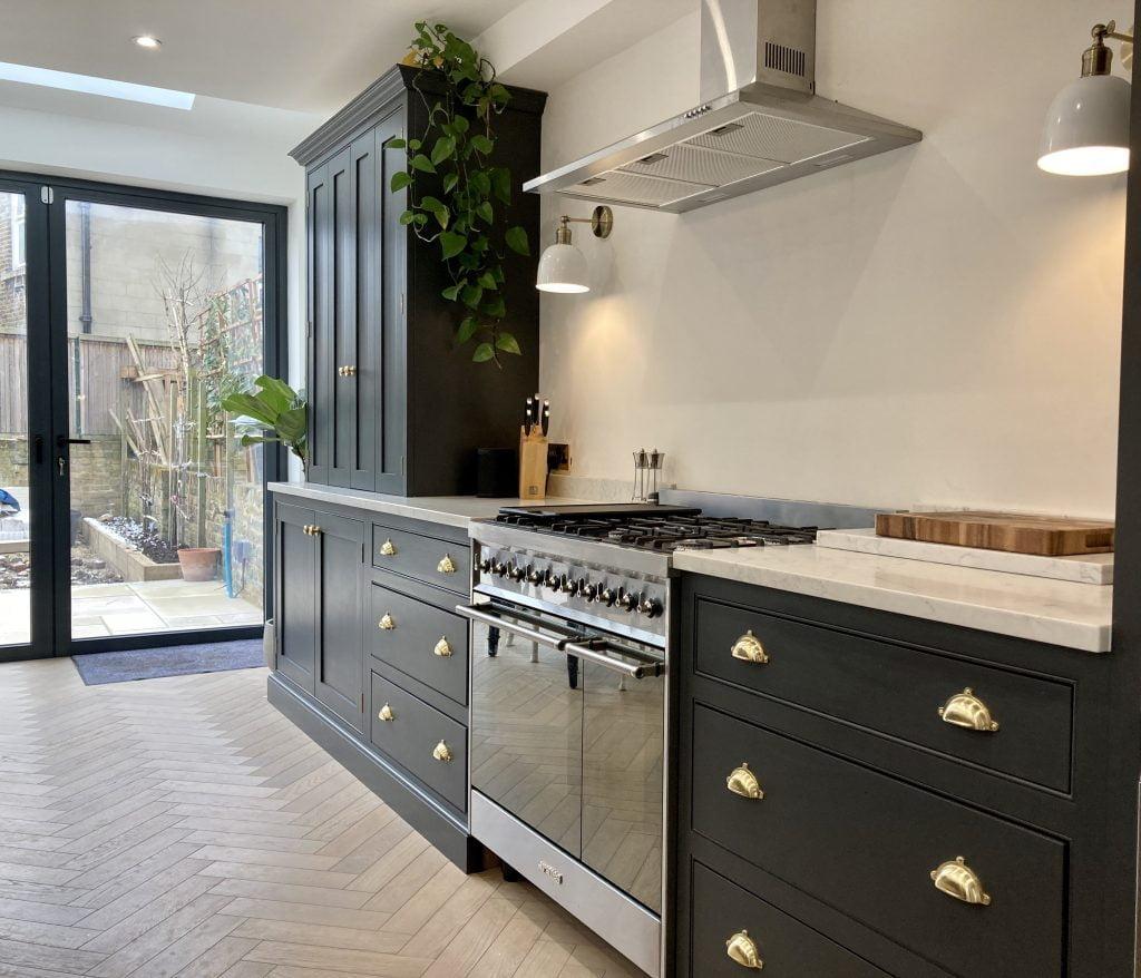Beautifully painted kitchen Brixton