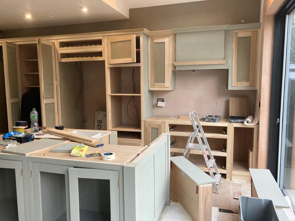 Painting Handmade kitchens direct