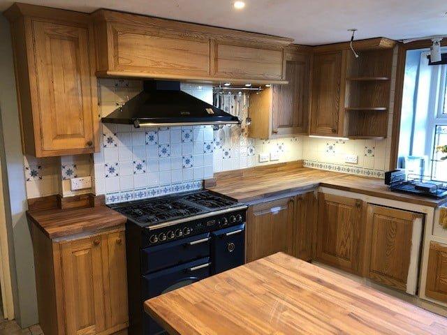 painted kitchen Cumbria